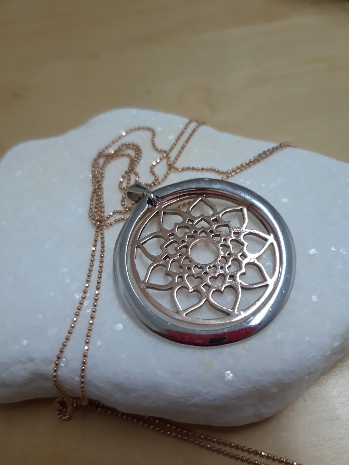 Lant din aur cu pandant Mandala of Love