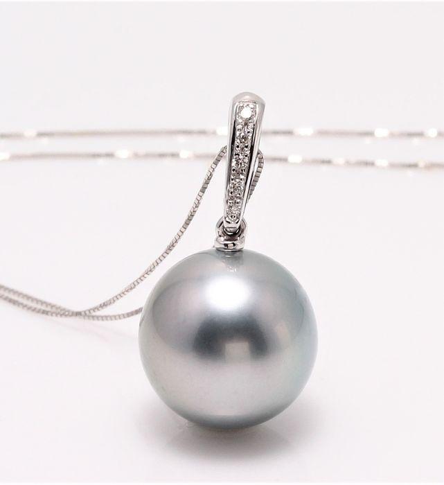 Colier Grey Pearl