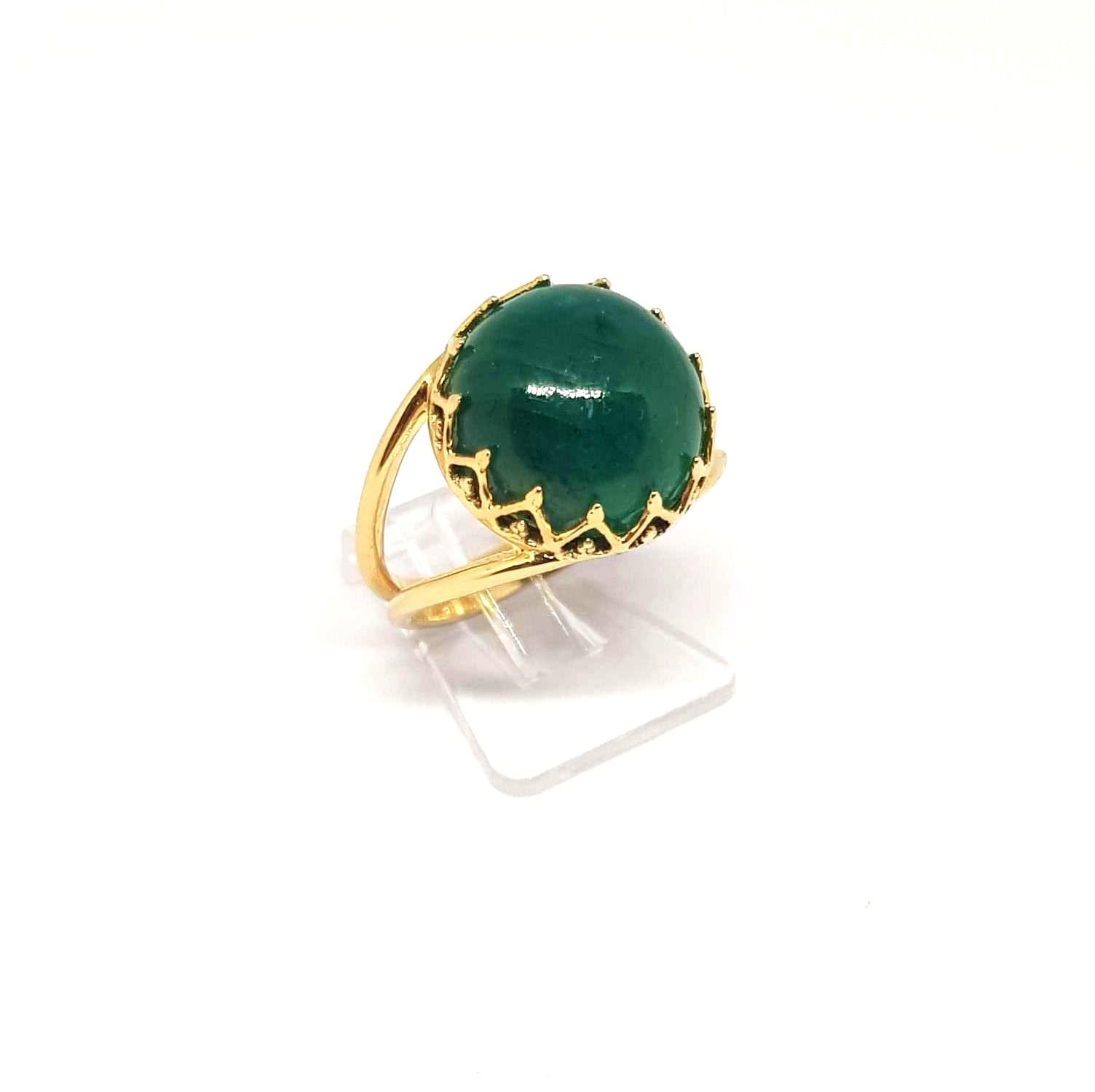 Inel Emerald Dome